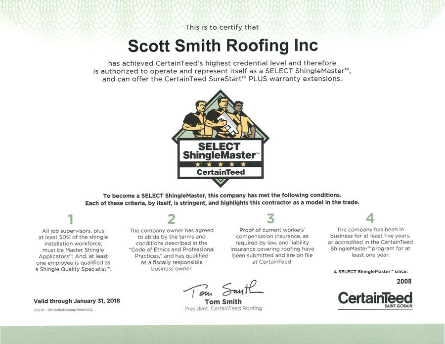 ShingleMaster Contractor in Ocala, Florida - Roofing Contractor